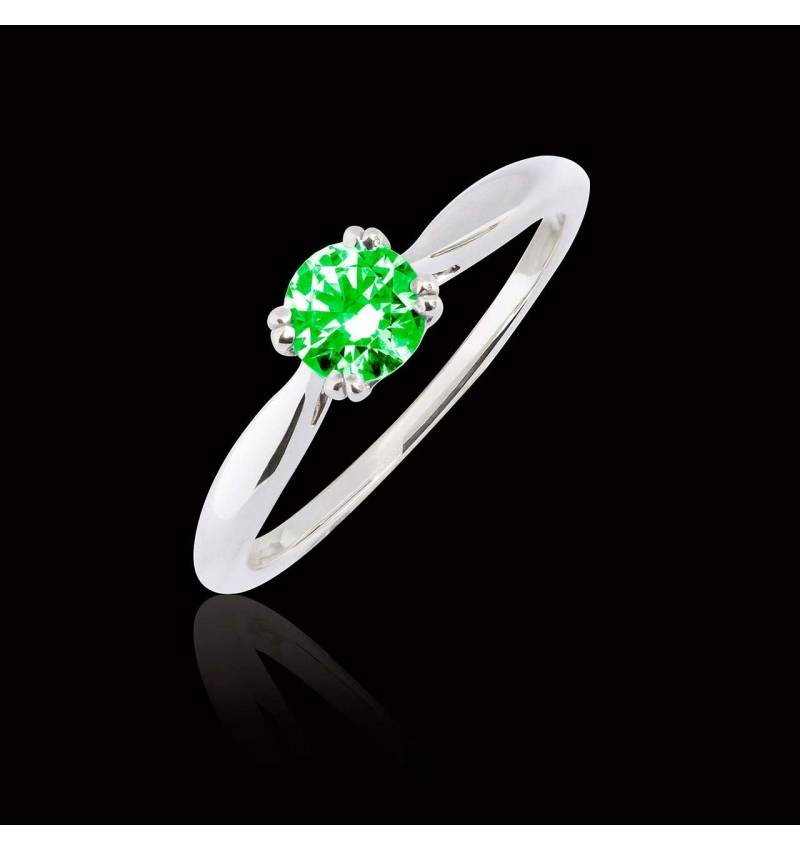 Laureen solo Emerald Ring