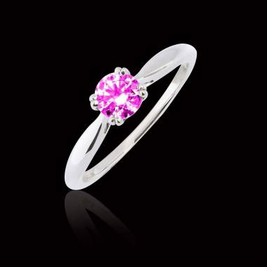 Laureen solo Pink Sapphire Ring