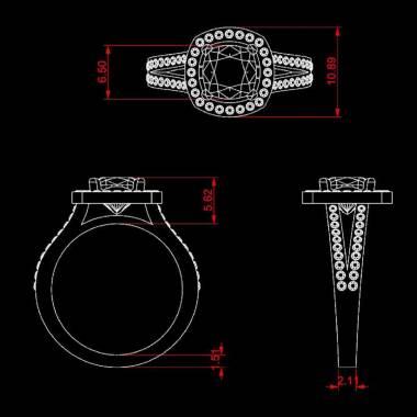 Sarah Black Diamond Ring