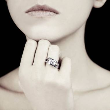 Round Diamond Engagement Ring White Gold Future Solo