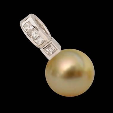 Gold Pearl Pendant Gold Princess Bora Bora