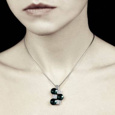 Black Pearl Pendant Gold Archipel