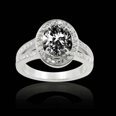 Bague diamant noir ovale Sarah