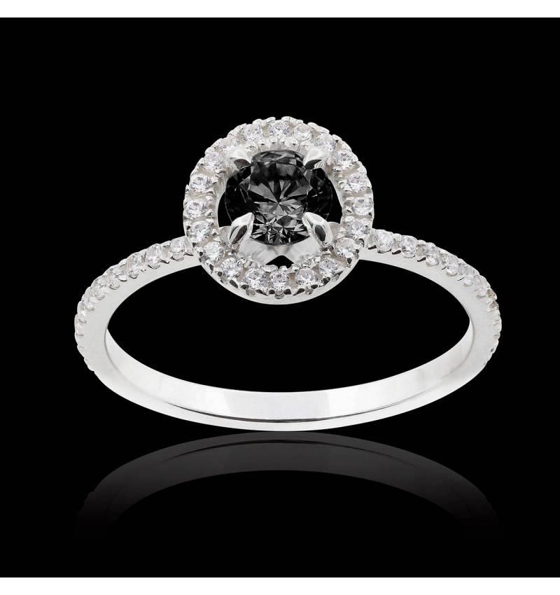 Bague diamant noir Isaure