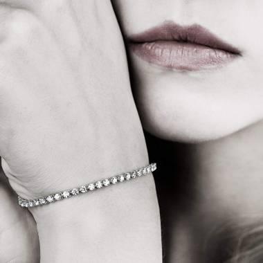 Pink Sapphire Bracelet Gold Rivière