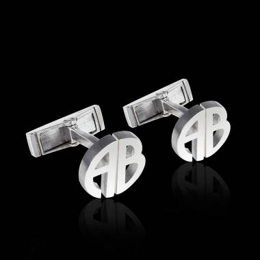Cufflinks White Gold Initials