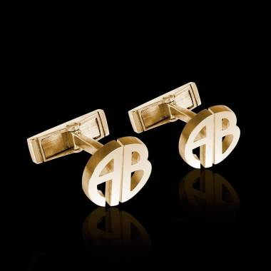 Cufflinks Yellow Gold Initiales