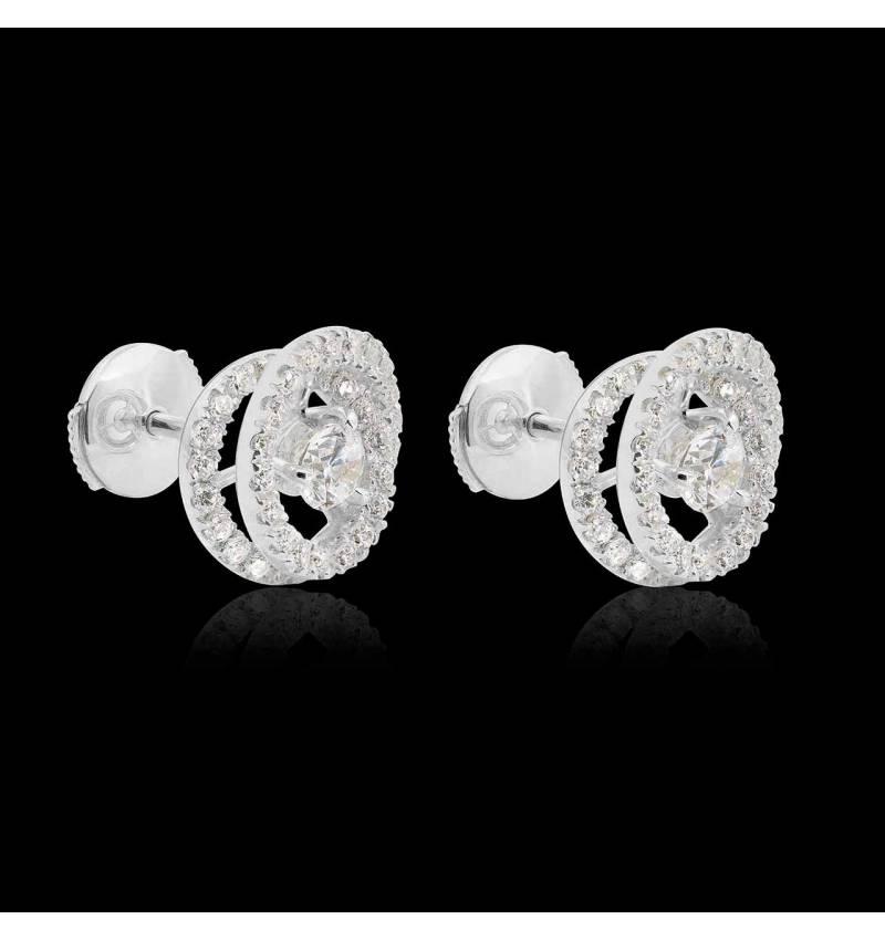 Boucles d'oreilles diamant Ellipse