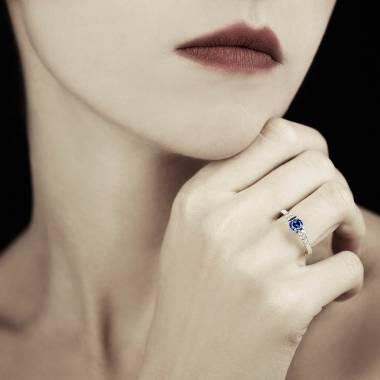 Bague saphir bleu Mila