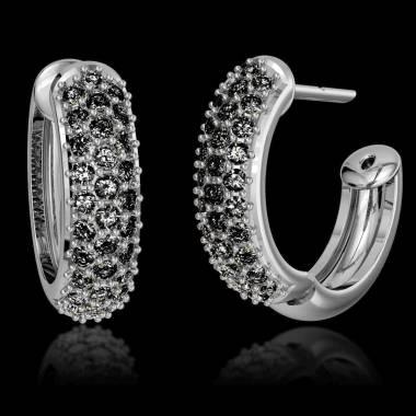 Black Diamond Earrings Gold Mangrove