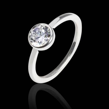 Diamond Engagement Ring White Gold Cristina