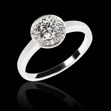 Diamond Engagement Ring White Gold Rekha