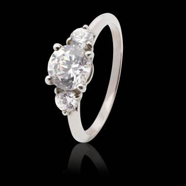Diamond Engagement Ring White Gold Nayla