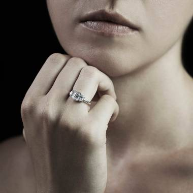 Bague diamant Art Déco