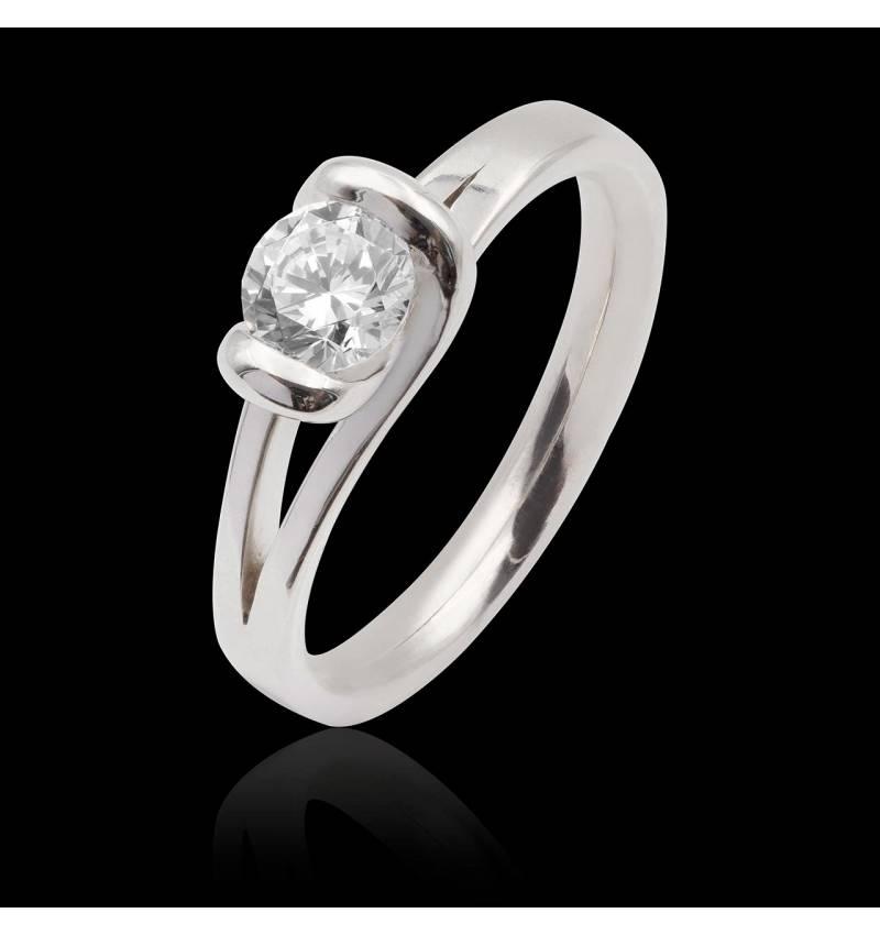 Bague diamant Florine solo