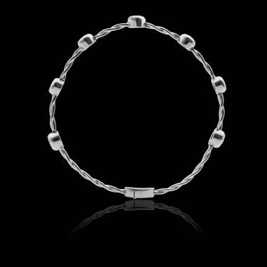 Bracelet diamant noir entrelacé