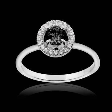 Bague diamant noir Isaure Solo