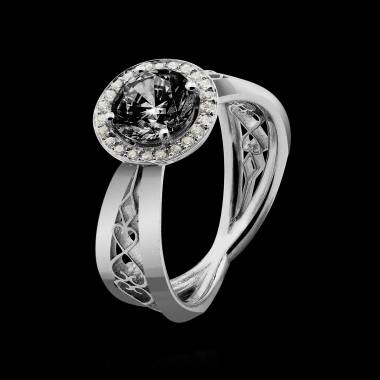 Bague diamant noir Barbara Solo