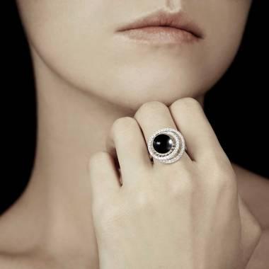 Bague perle noire Tahiti Corinne