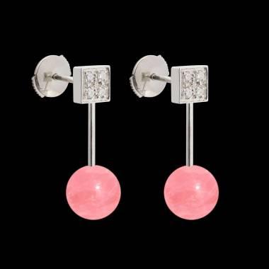Boucles d'oreilles perle rosée Archipel