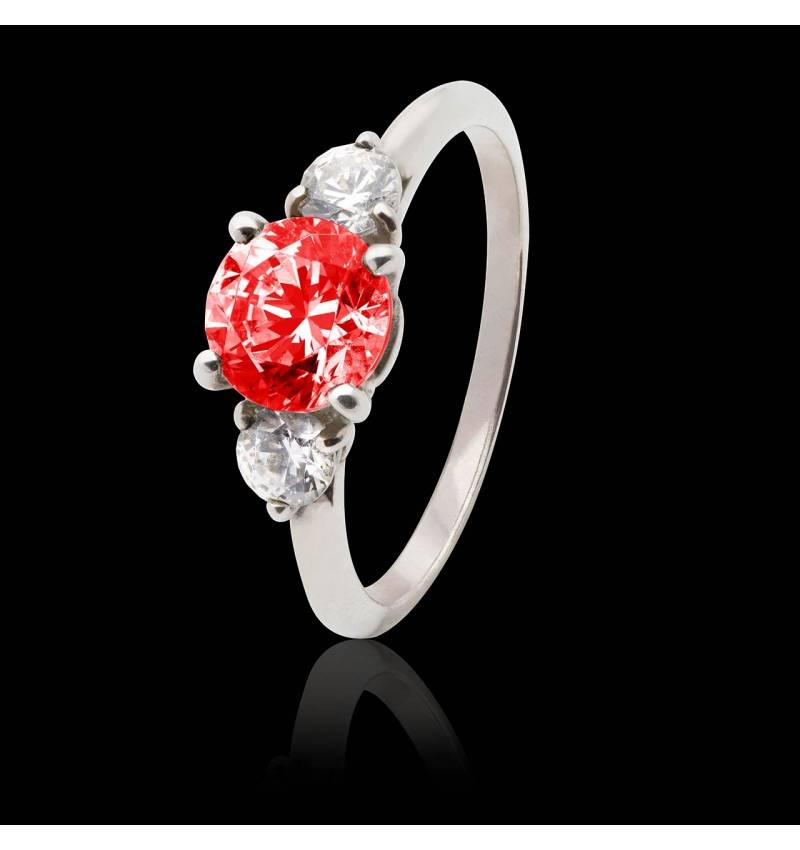 Ruby Engagement Ring White Gold  Nayla