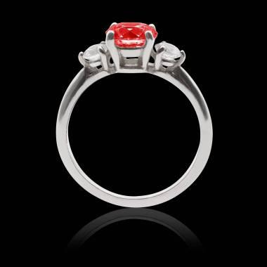 Ruby Engagement Ring White Gold  Nayla