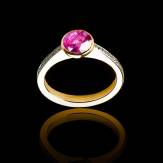 Bague Tourmaline rose Moon