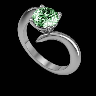 Bague Tsavorite Serpentine