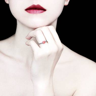 Bague Spinelle rouge Judith