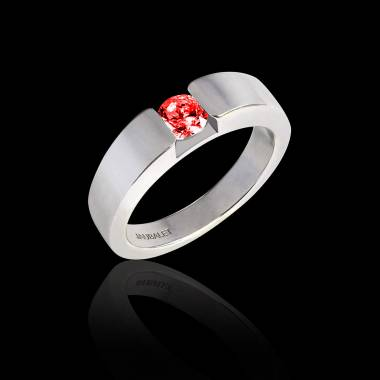 Bague Spinelle rouge Pyramide