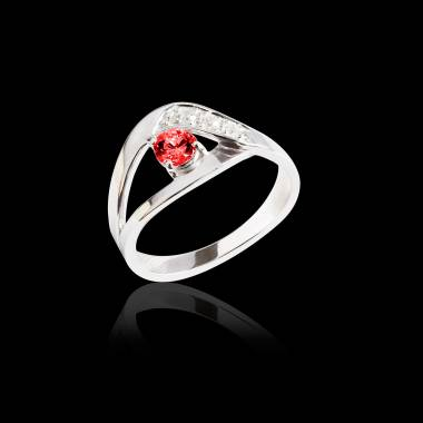 Bague Spinelle rouge Anelle
