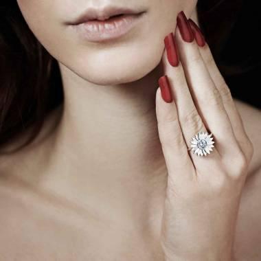Bague diamant Marguerite solo