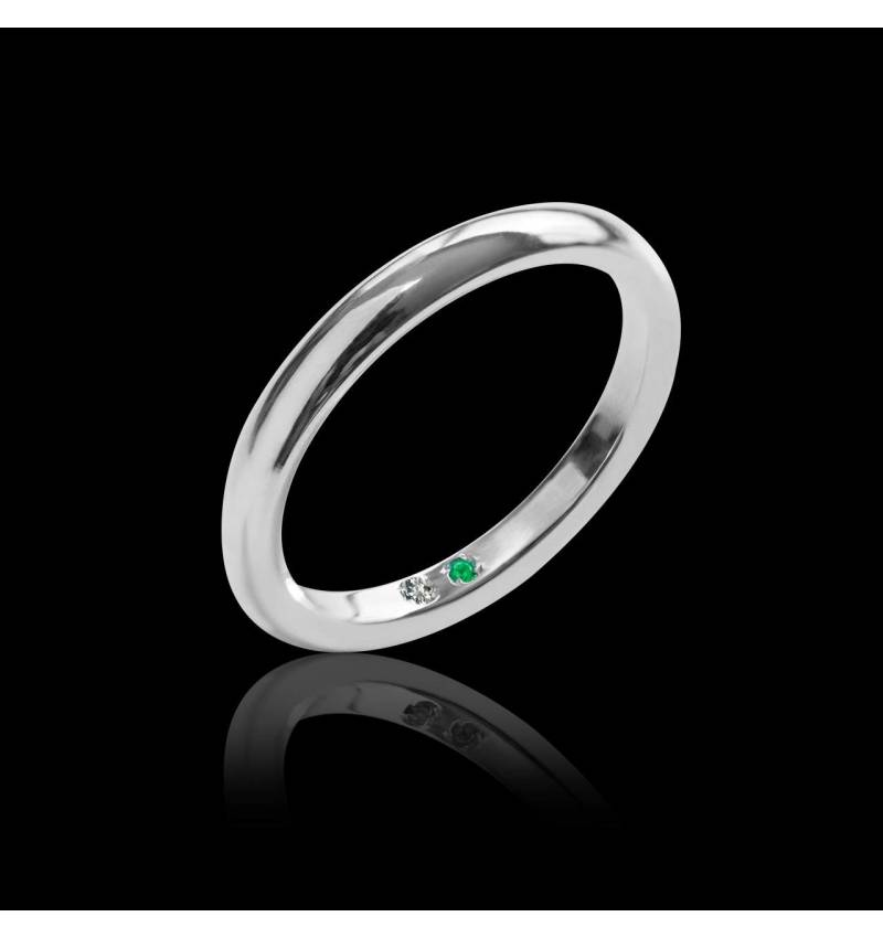Diamond White Gold Wedding Band Cache Cache