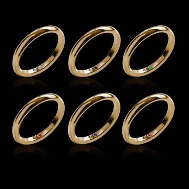 Sapphire Wedding Band White Gold Cache Cache
