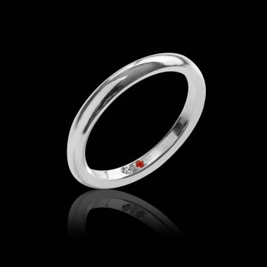 Sapphire Wedding Band Platinum Cache Cache