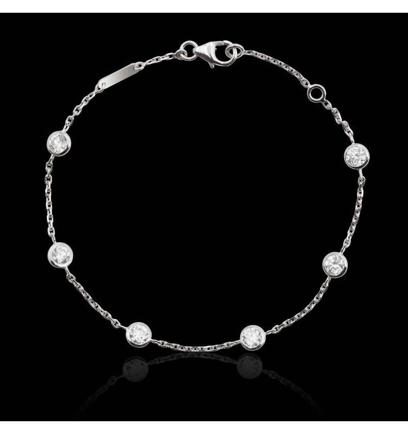 Bracelet diamants Galets