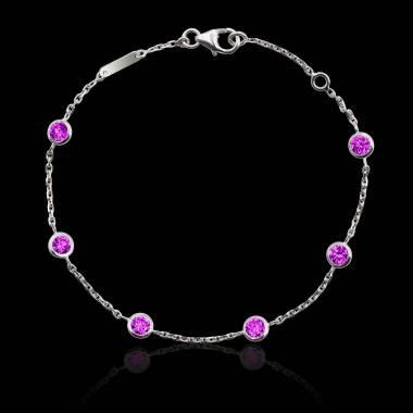 Bracelet saphir rose Galets