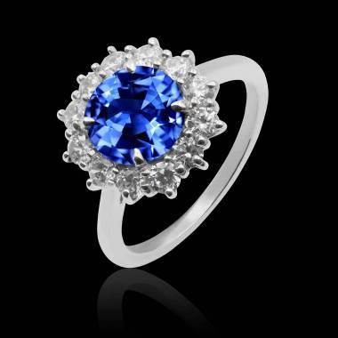 Bague saphir bleu Florentine