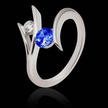 Bague saphir bleu Eva