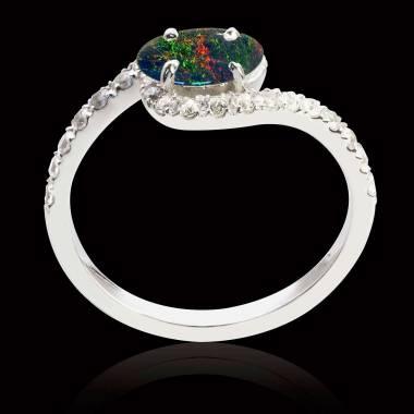 Bague opale noire Lilou