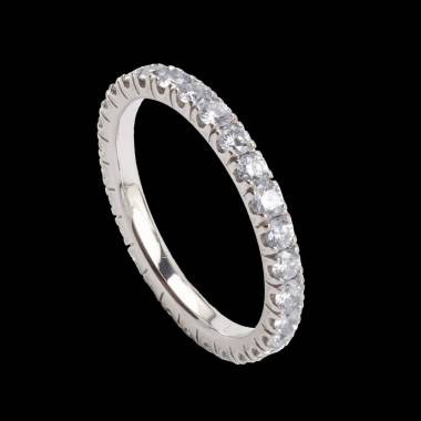 Eve Diamond Wedding Band White Gold