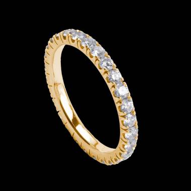 Eve Diamond Wedding Band Yellow Gold