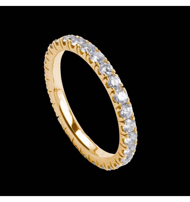 diamond Yellow Gold Wedding Band Eve