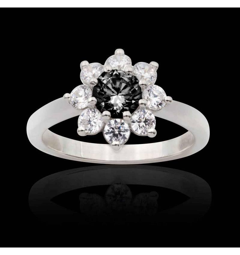 Bague diamant noir Victoria