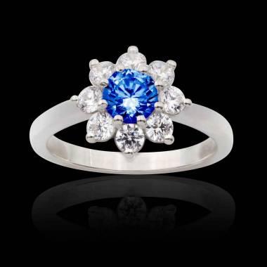 Bague saphir bleu Victoria