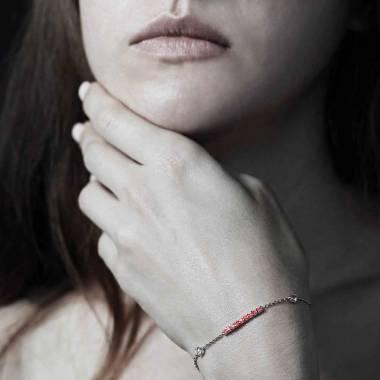 Bracelet rubis Barrette