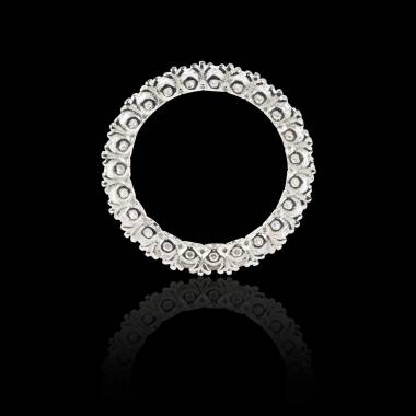Diamond White Gold Wedding Band Eve
