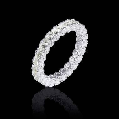 Diamond White Gold Wedding Band Eve