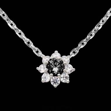 Pendentif diamant noir Victoria
