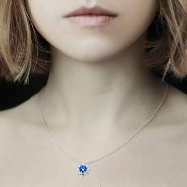 Pendentif saphir bleu Victoria